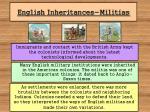 english inheritances militias