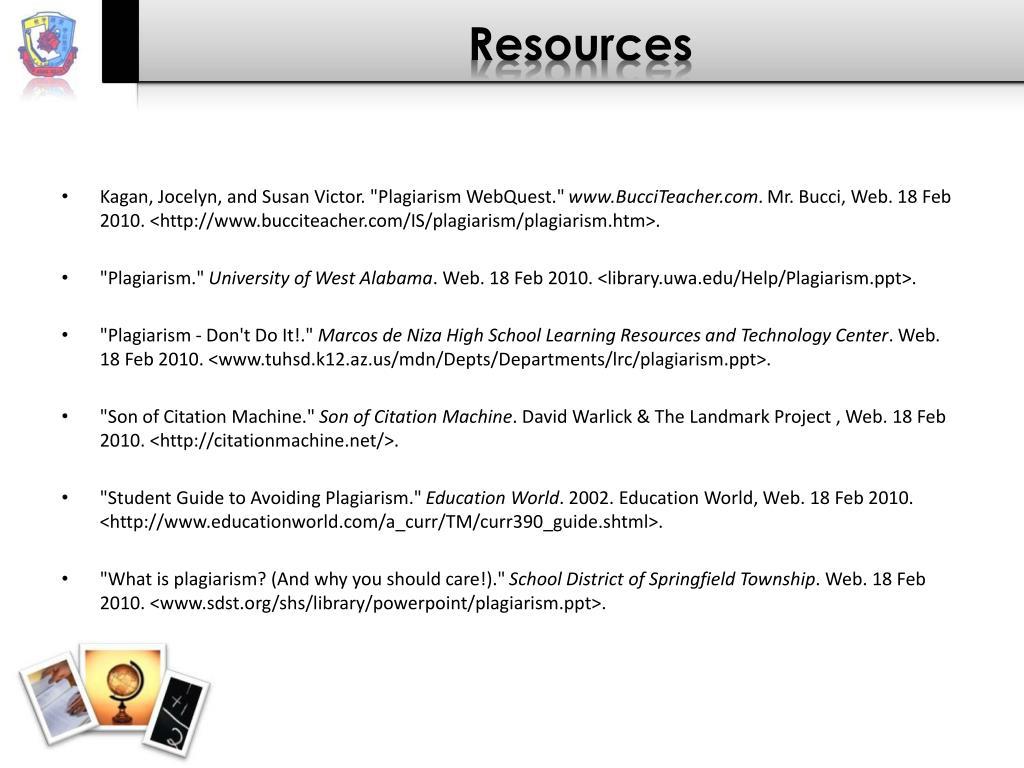 PPT - Plagiarism PowerPoint Presentation - ID:4635644