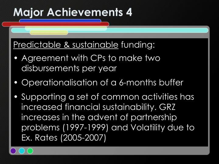 Major Achievements 4