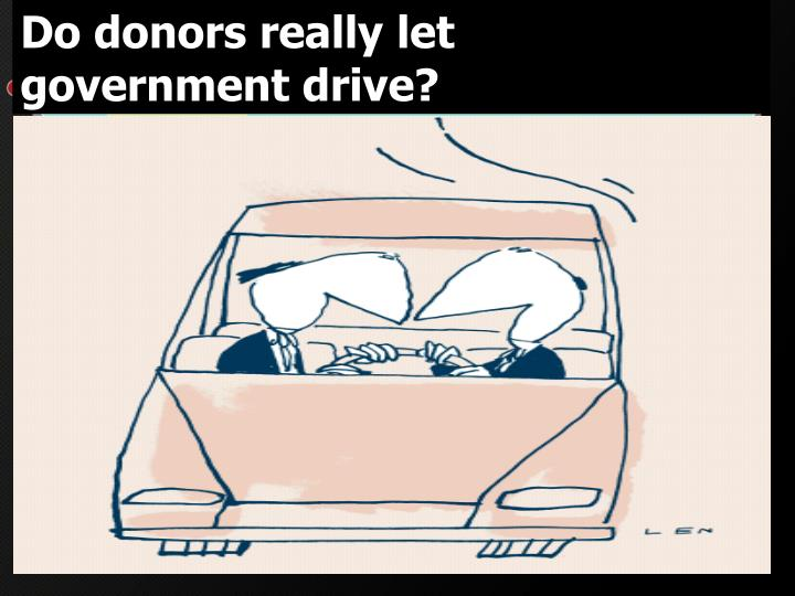 Do donors really let