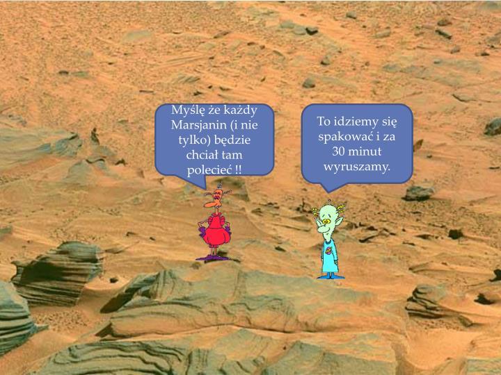 Myślę że każdy Marsjanin (i nie tylko) będzie chciał tam polecieć !!