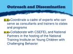 outreach and dissemination