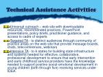 technical assistance activities
