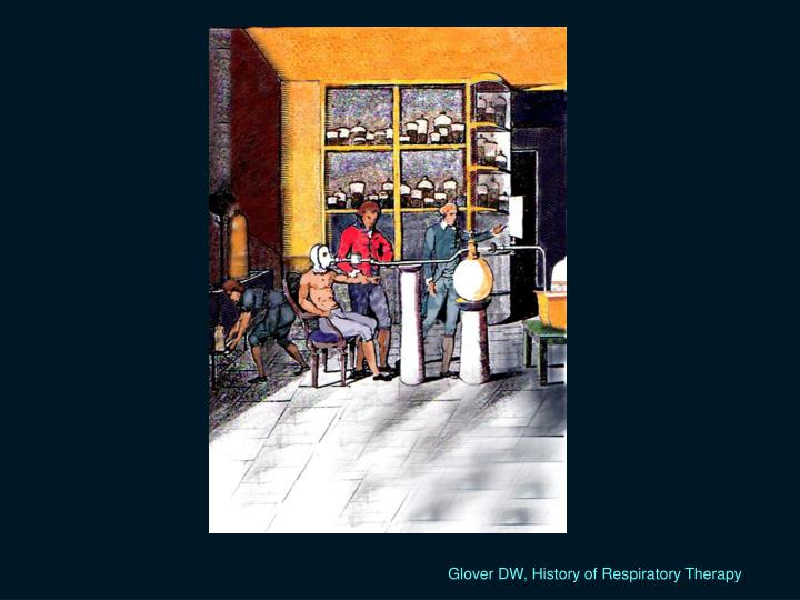 Glover DW, History of Respiratory Therapy