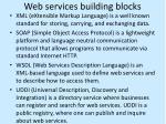 web services building blocks