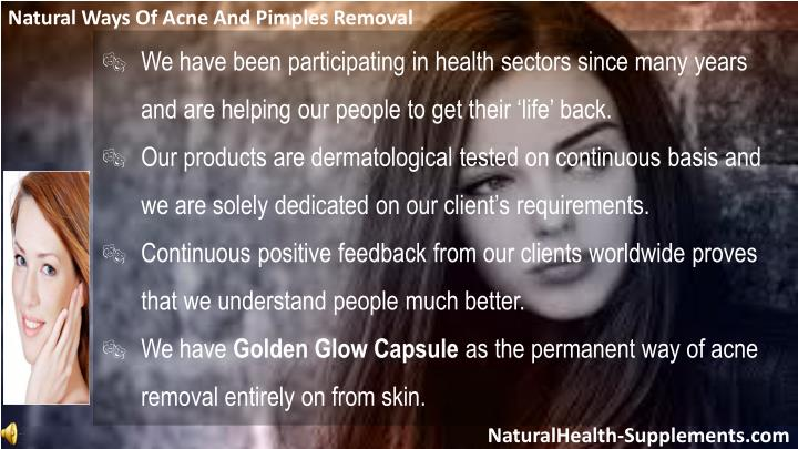 Natural Ways Of Acne And Pimples Removal