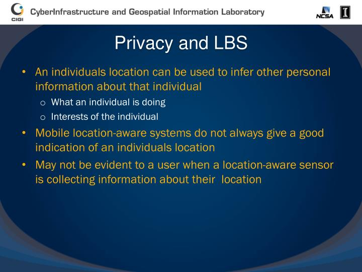 Privacy and LBS