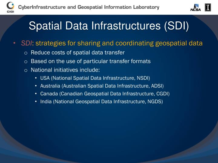 Spatial Data Infrastructures (SDI)