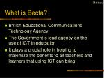 what is becta