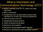 what is information and communications technology ict