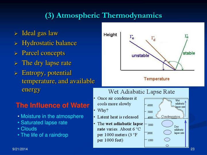 (3) Atmospheric Thermodynamics