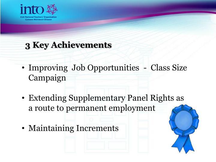 3 Key Achievements