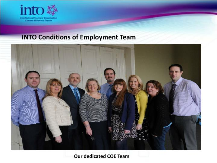 INTO Conditions of Employment Team