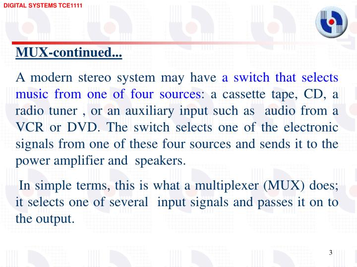 MUX-continued...