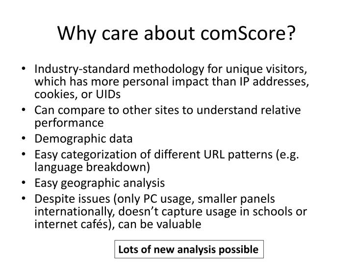 Why care about comscore