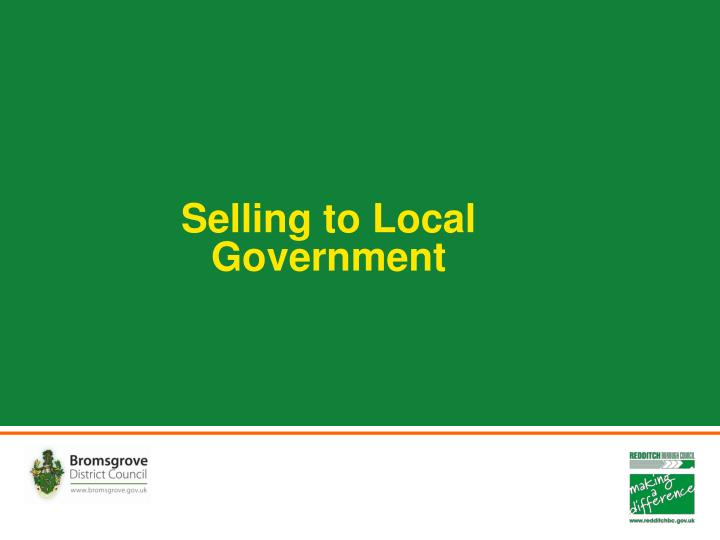 selling to local government n.