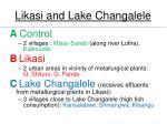likasi and lake changalele