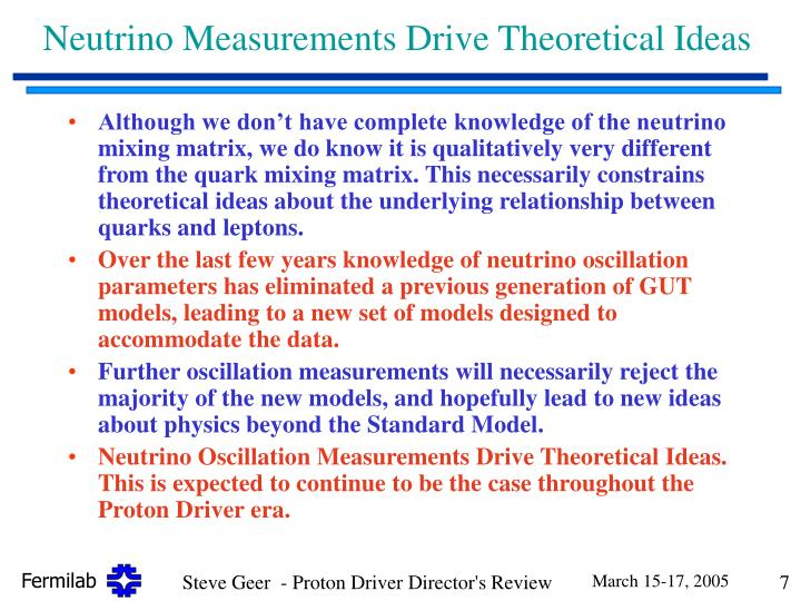 Neutrino Measurements Drive Theoretical Ideas