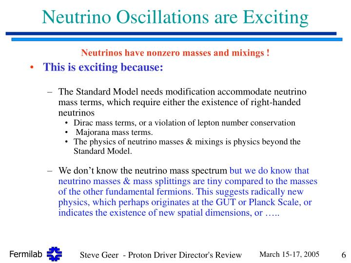 Neutrino Oscillations are Exciting