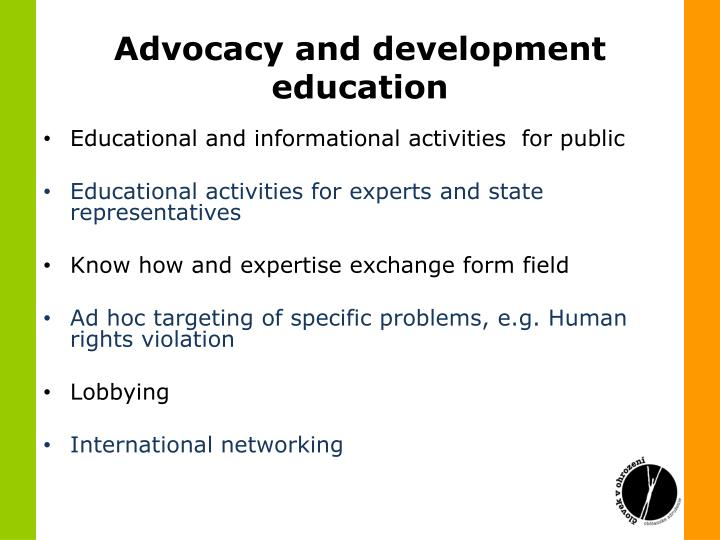 Advocacy and development education