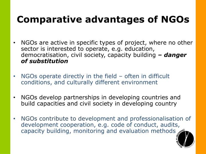 Comparative advantages of NGOs