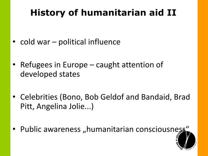 History of humanitarian aid II