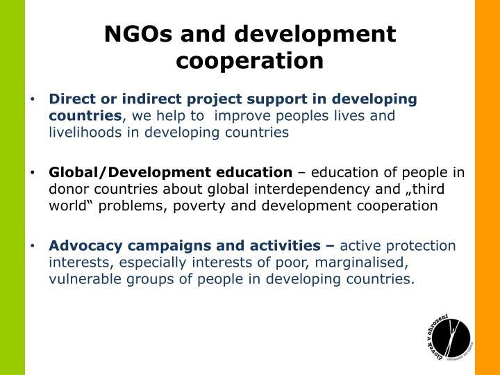 NGOs and development cooperation