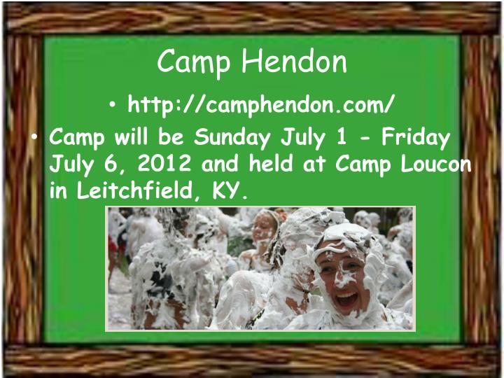 Camp Hendon