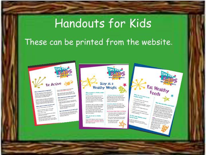 Handouts for Kids