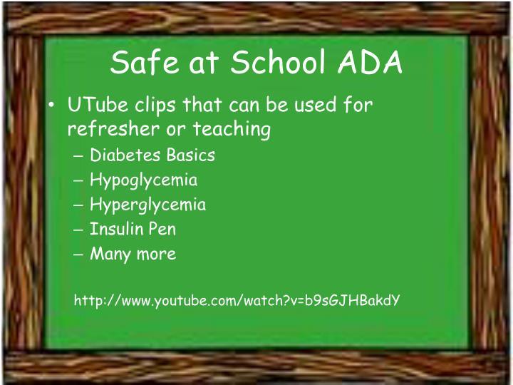 Safe at School ADA