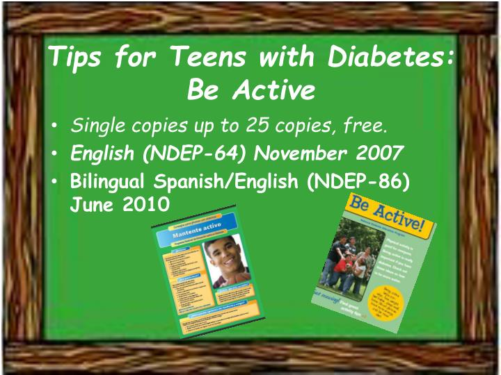Tips for Teens with Diabetes: Be Active