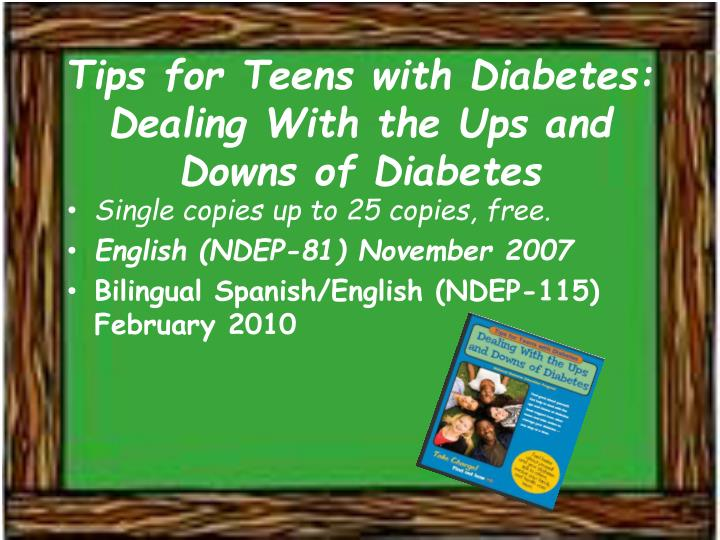 Tips for Teens with Diabetes: Dealing With the Ups and Downs of Diabetes