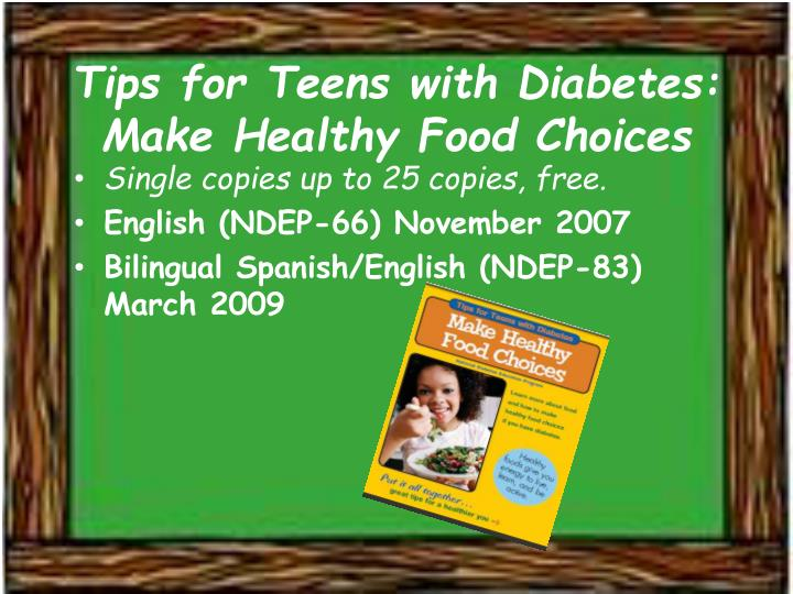 Tips for Teens with Diabetes: Make Healthy Food Choices
