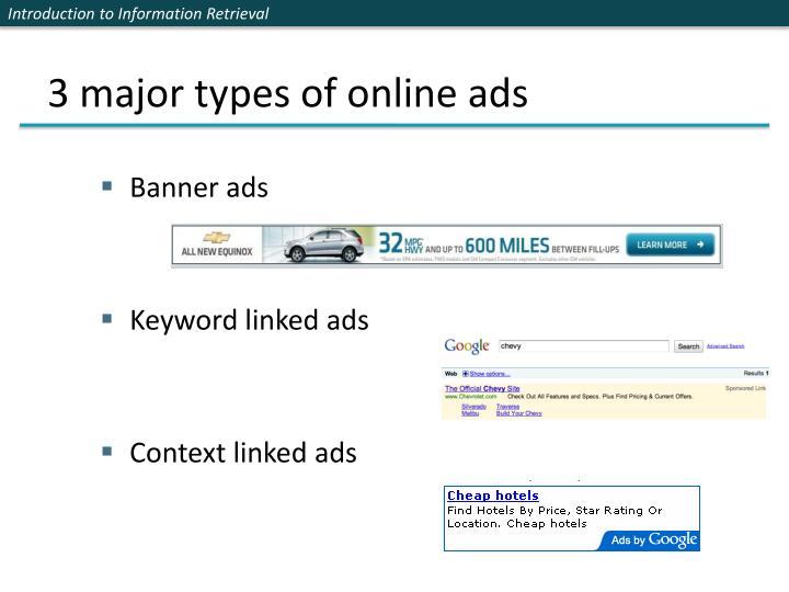 3 major types of online ads