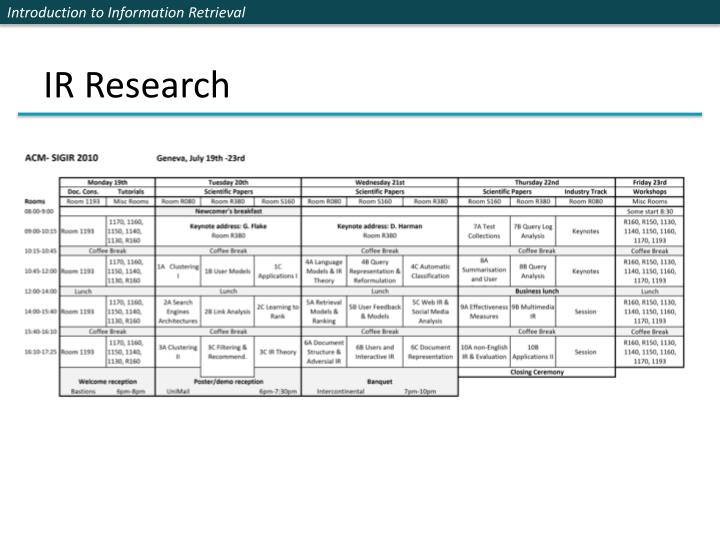 IR Research