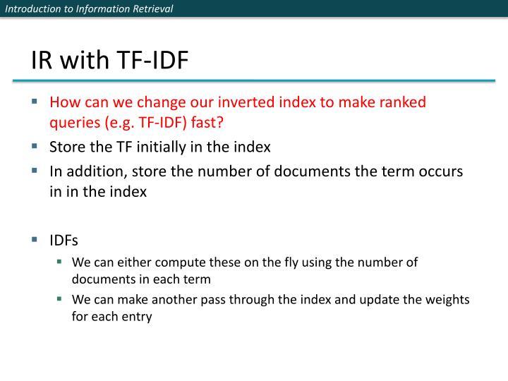 IR with TF-IDF