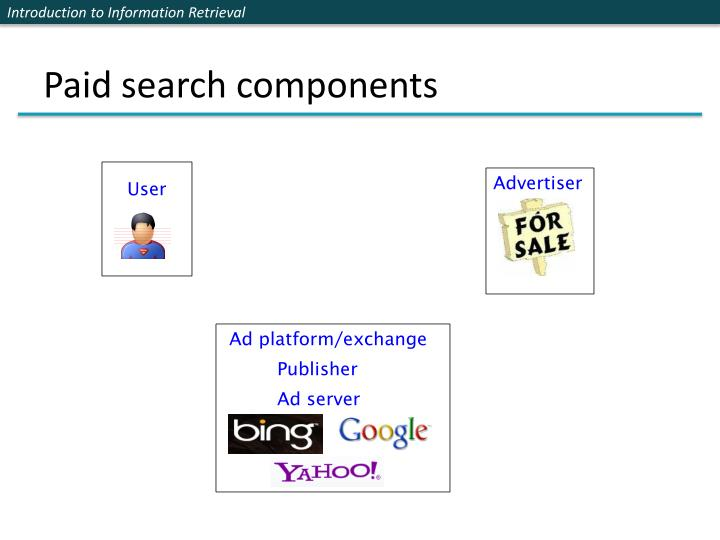 Paid search components