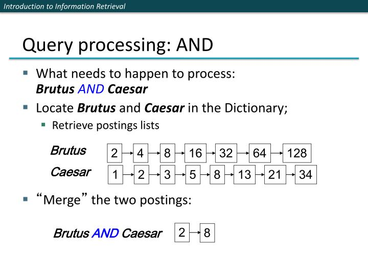 Query processing: AND