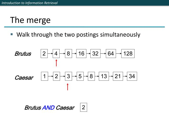 The merge