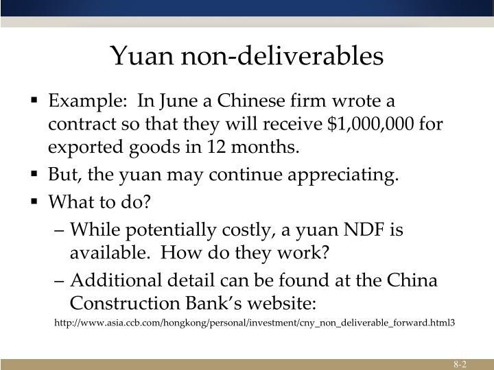 Yuan non deliverables