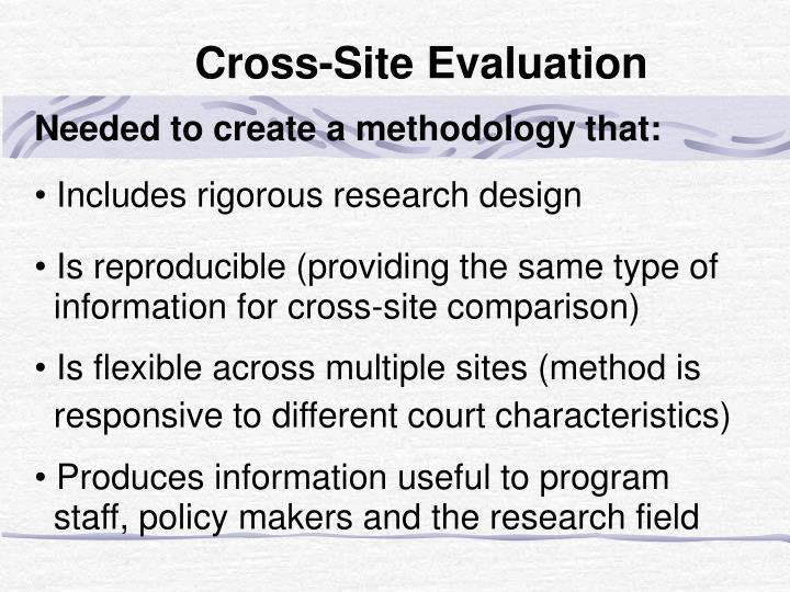Needed to create a methodology that: