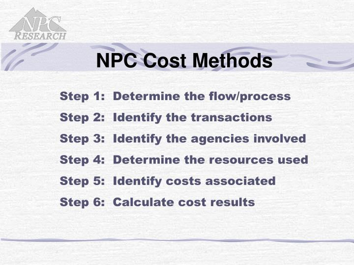NPC Cost Methods