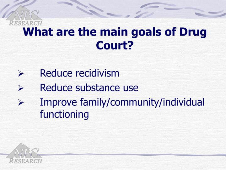 What are the main goals of Drug Court?