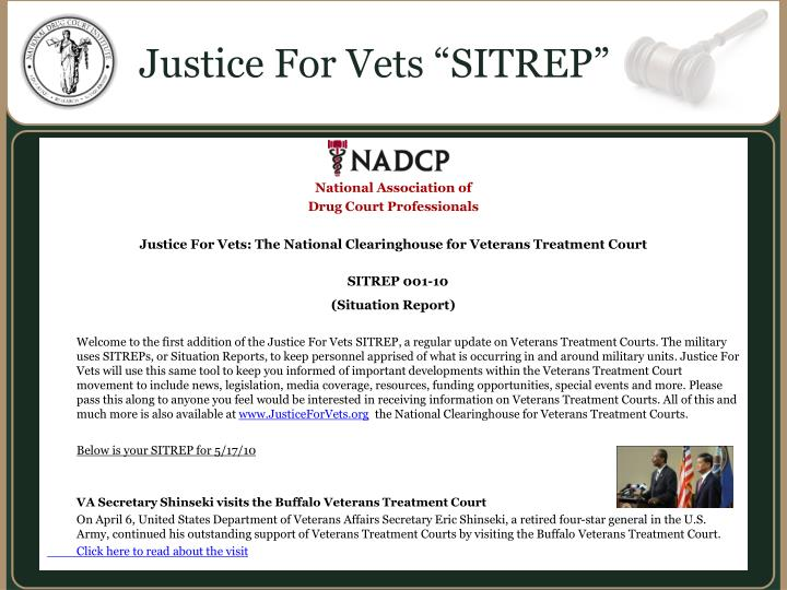 """Justice For Vets """"SITREP"""""""