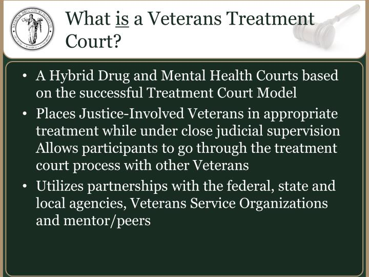What is a veterans treatment court