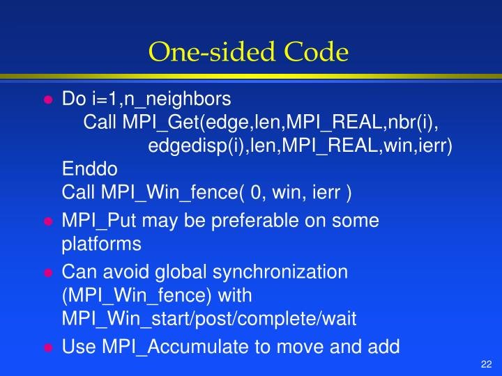 One-sided Code