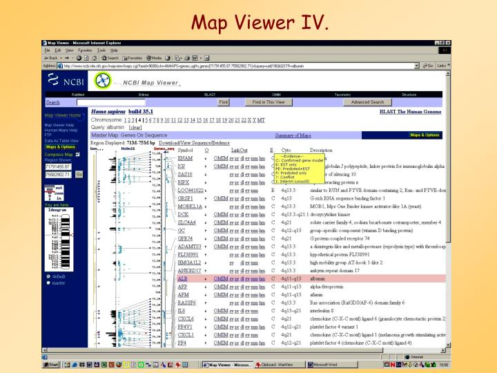 Map Viewer IV.