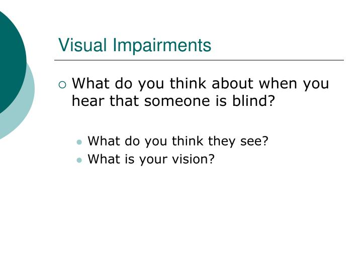 Visual impairments2