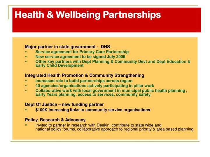 Health & Wellbeing Partnerships
