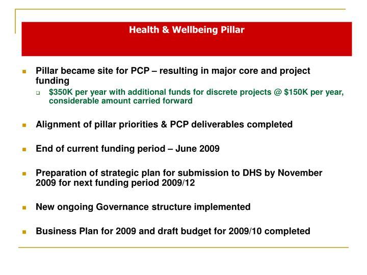 Health wellbeing pillar1